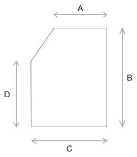 Einfache Abschrägung links