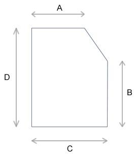 Einfache Abschrägung rechts